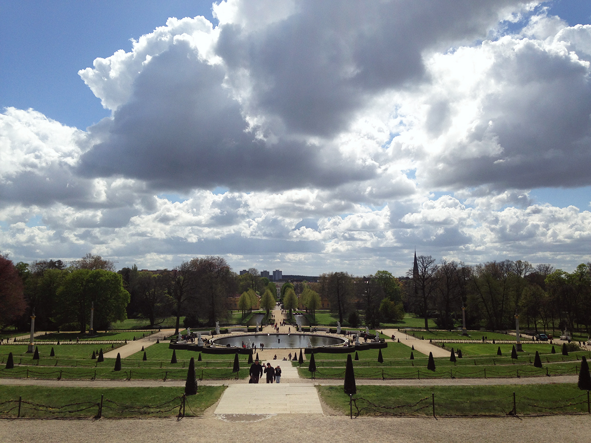 The view from the Sanssouci Palace
