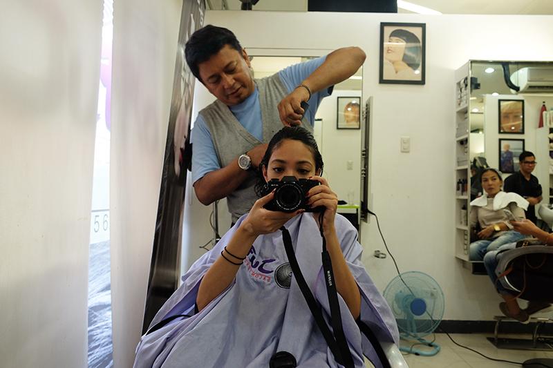 Documenting hair stylist Jude Hipolito chopping my hair off!