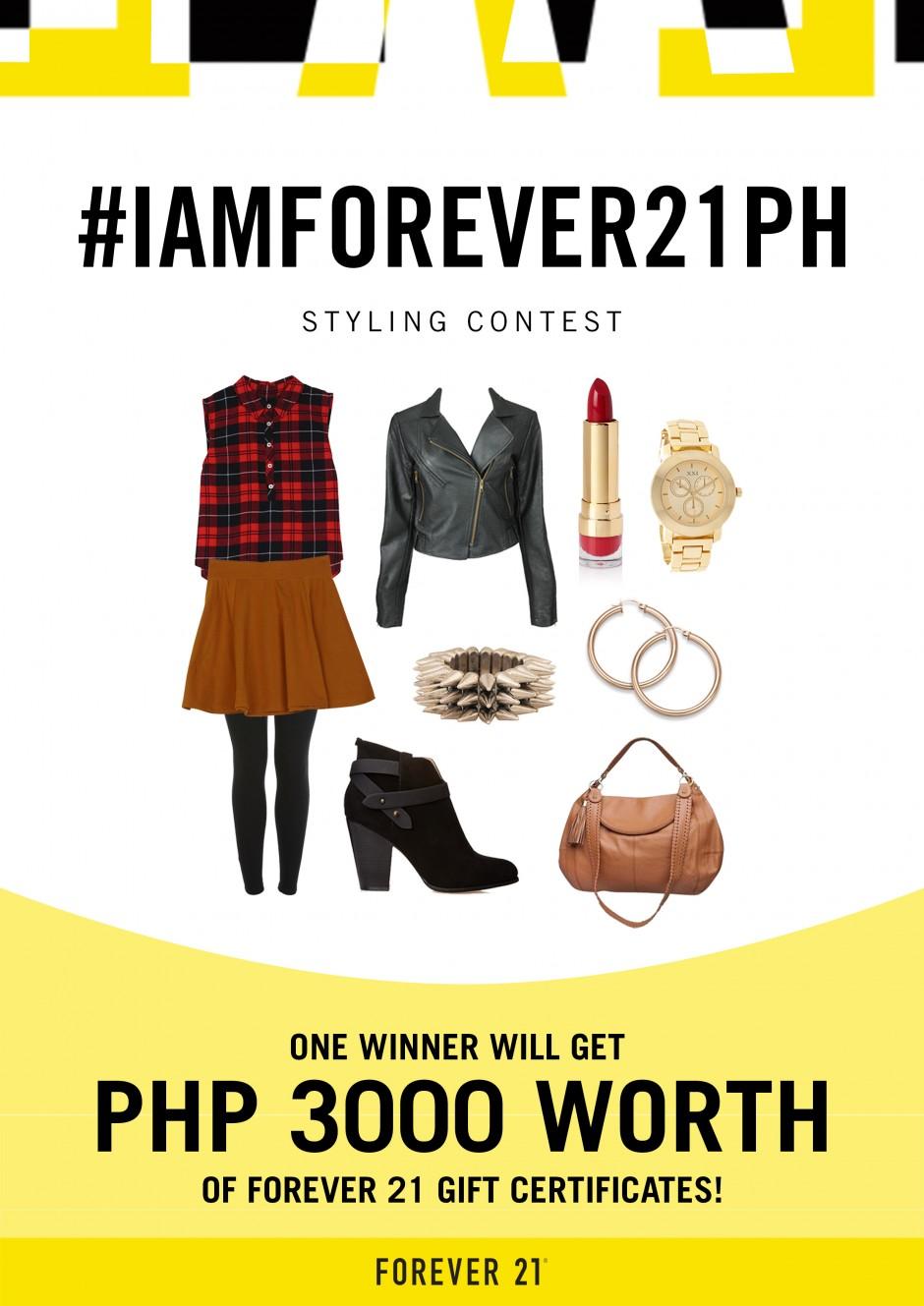 #IAmForever21PH Styling Contest Poster